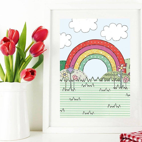 3 x Rainbow A4 Art Print