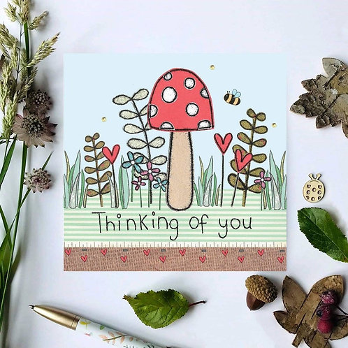 3 x Thinking of you toadstool Card