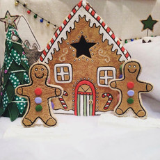 Fabric gingerbread house