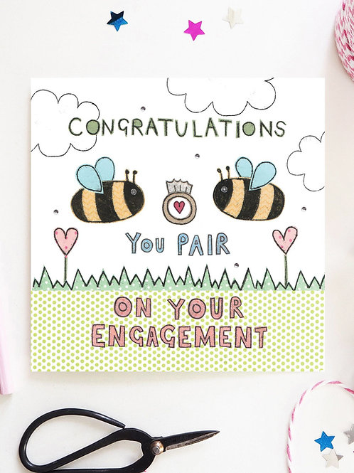 3 x Engagement Bees Card