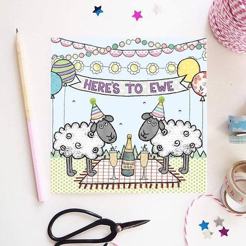 Here's to Ewe Card