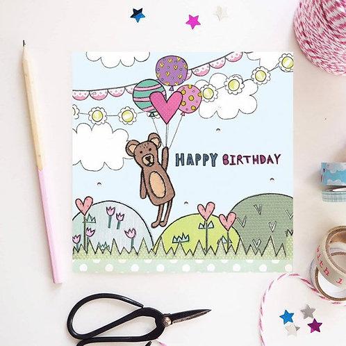 3 x Teddybear Birthday Card
