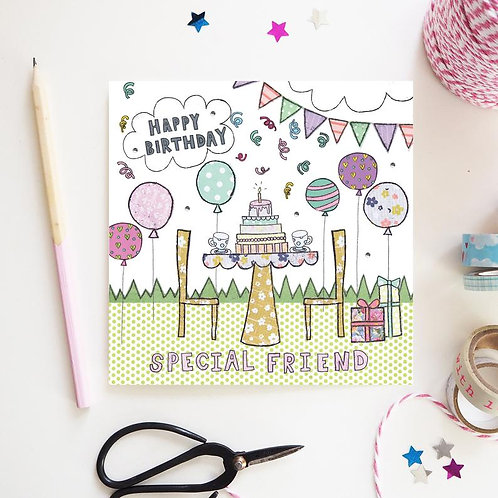 3 x Special Friend Birthday Card