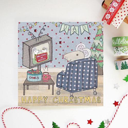 6 x Dad Christmas Card