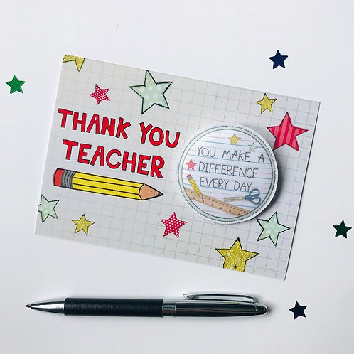 3 x Thank you Teacher Badge