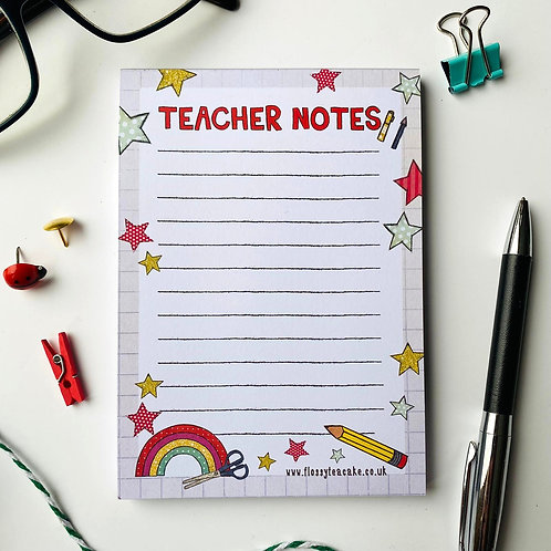 3 x Teacher Notes A6 notepad
