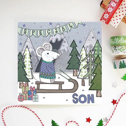 6 x Son Christmas Card