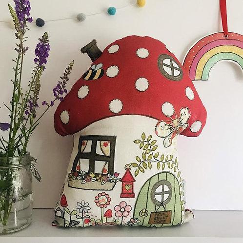 Toadstool House Cushion