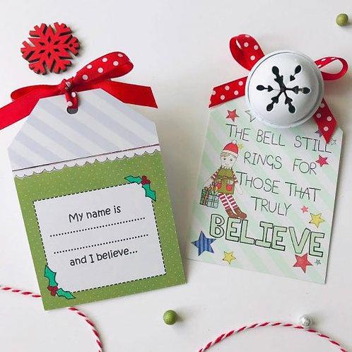 3  x Christmas Bell Elf Design
