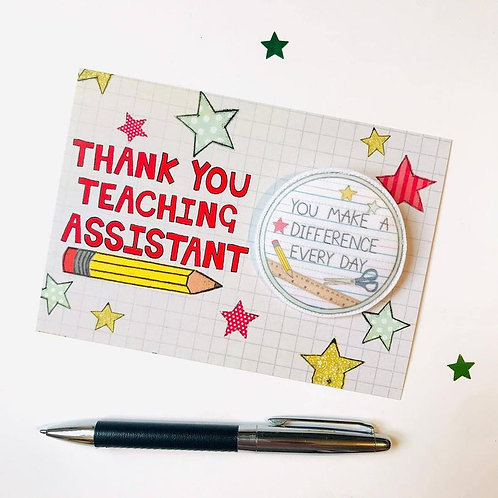 3 x Thank you Teaching Assistant Badge