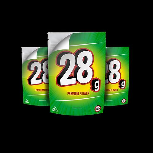 Mylar Sticker Bag 28g