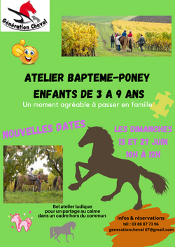 Atelier Baptême-poney