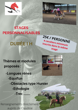 Stage personnalisable
