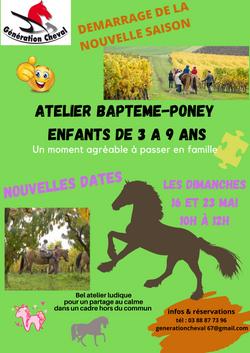 Atelier Bapteme-poney