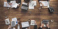 Business People Analyzing Statistics Fin