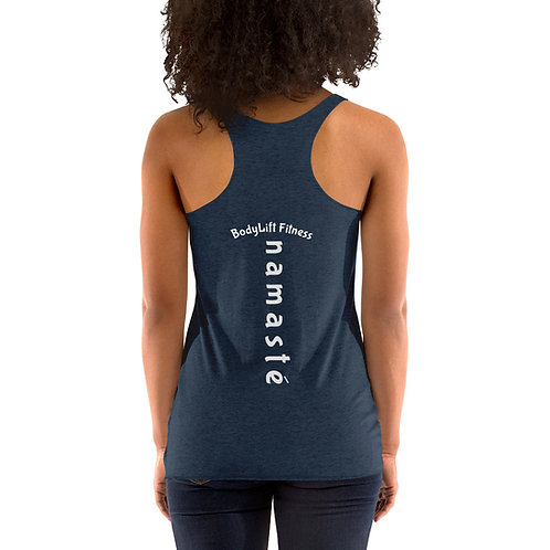 Women's Racerback Tank Namaste On Back