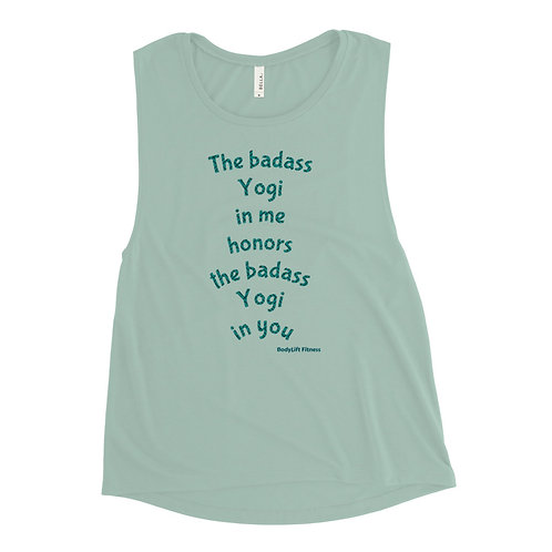 Baddass Yogi Ladies' Muscle Tank