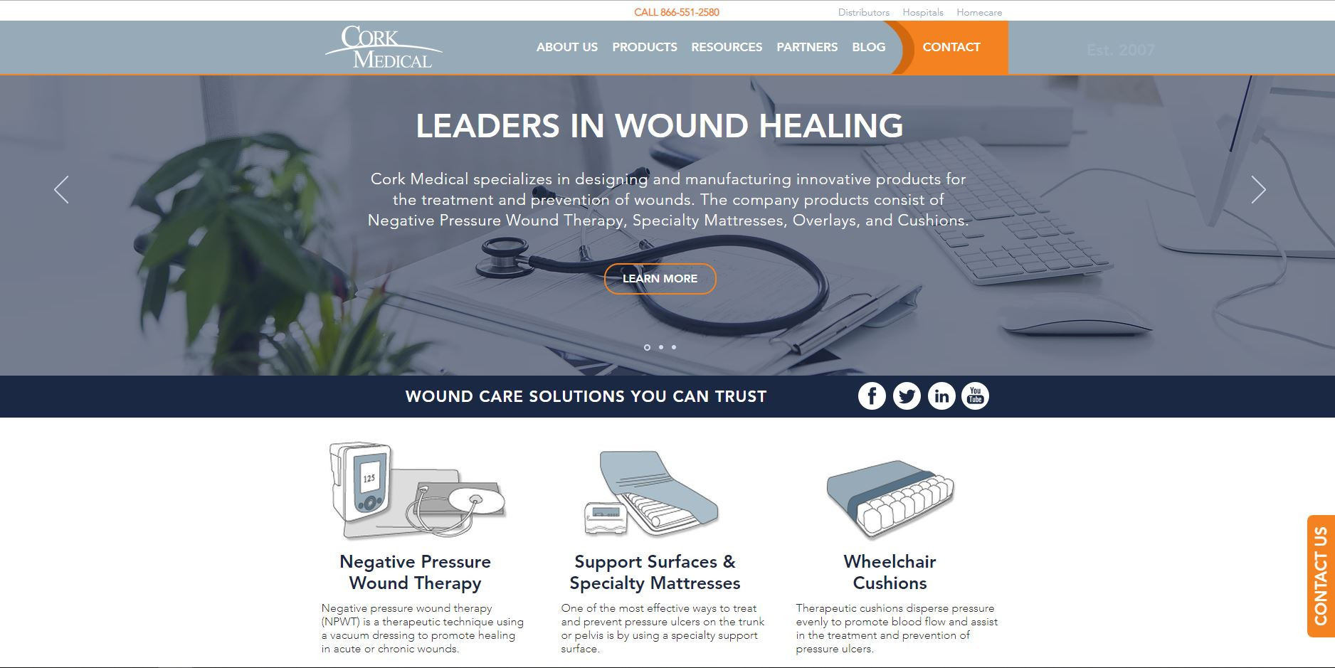 Cork Medical | Wound Care Products | Manufacturer