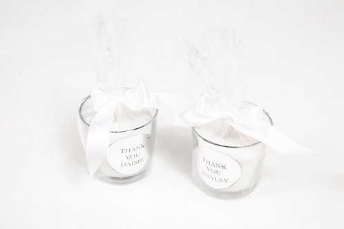 Personalised large single Candle