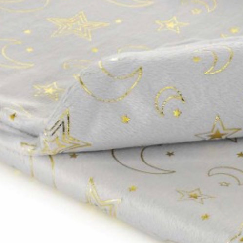 Foil printed initials baby blankets