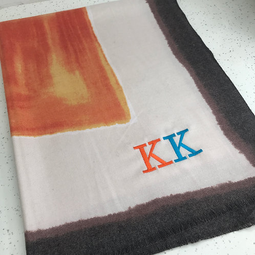 Spring Patch Personalized InitiaL Scarfs