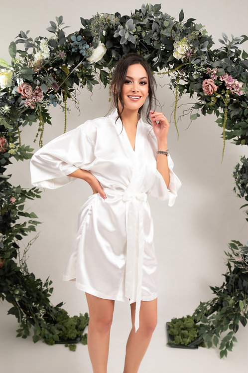 Classic Bridal Dressing Gown