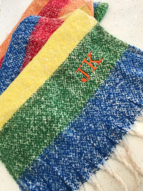 Super Soft Wool Rainbow Scarf