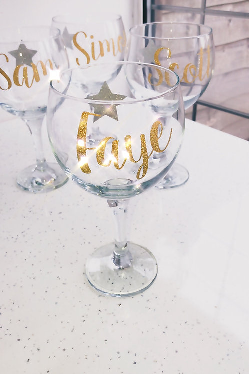 Gin glass Personalised