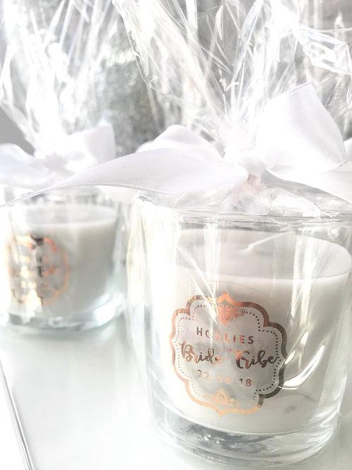 10 Personalised Bridal Candles