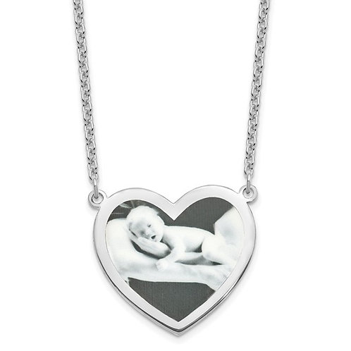 Sterling Silver Heart Picture Pendant