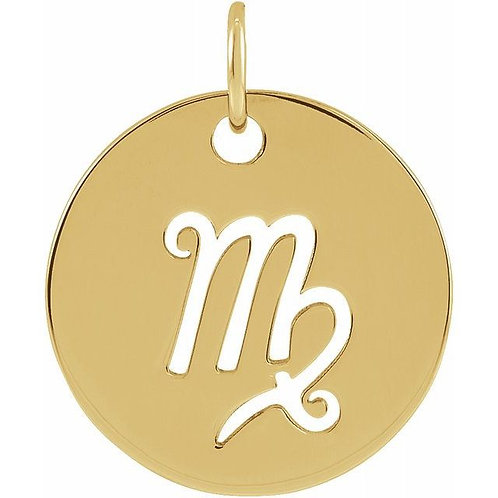 14K Yellow Gold Zodiac Pendants