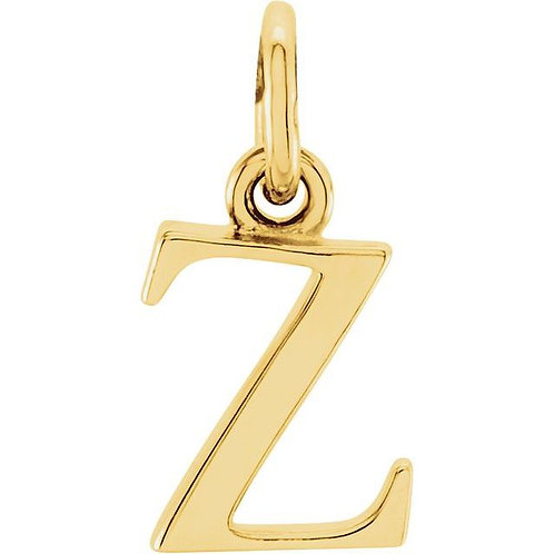 14K Yellow Gold Lowercase Initial Charms
