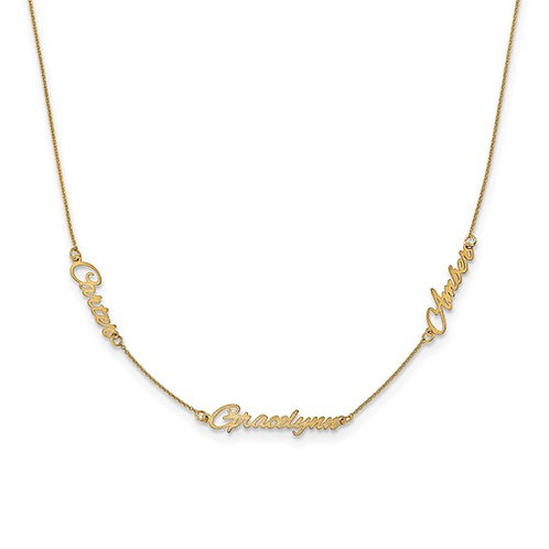3 Name Station Necklace
