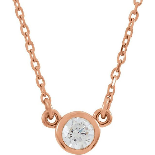 Bezel-Set Solitaire Birthstone Necklace