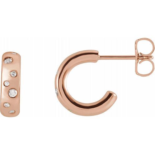 1/8 CTW Diamond Hoop Earrings