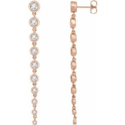 Bezel-Set Graduated Earrings