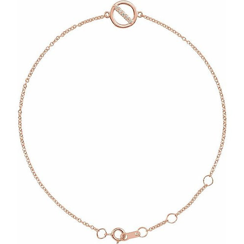 .03 CTW Diamond Circle Bracelet