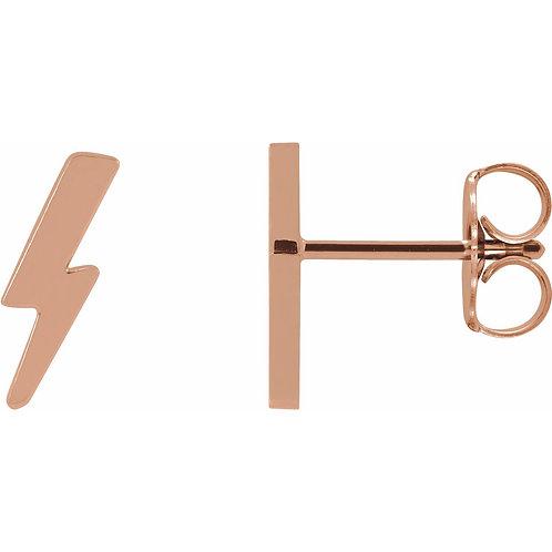 Tiny Lightning Bolt Earrings