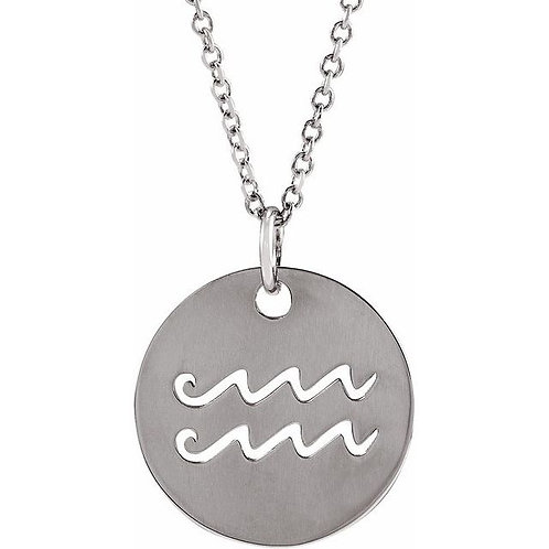 Sterling Silver Zodiac Pendant or Necklace