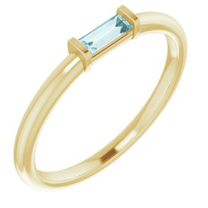 Sky Blue Topaz Stackable Ring