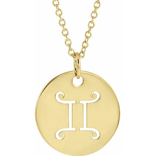 14K Yellow Gold Zodiac Pendant or Necklace