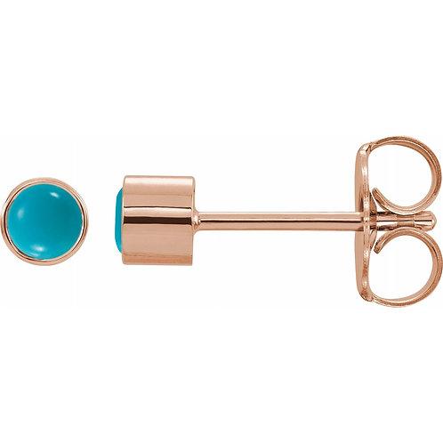 Turquoise Bezel-Set Earrings