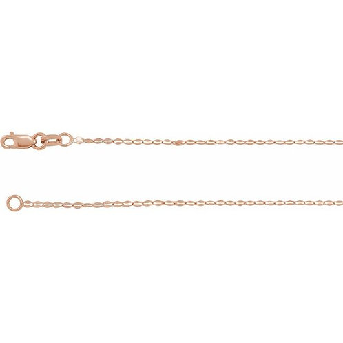 1.4 mm Keyhole Link Chain