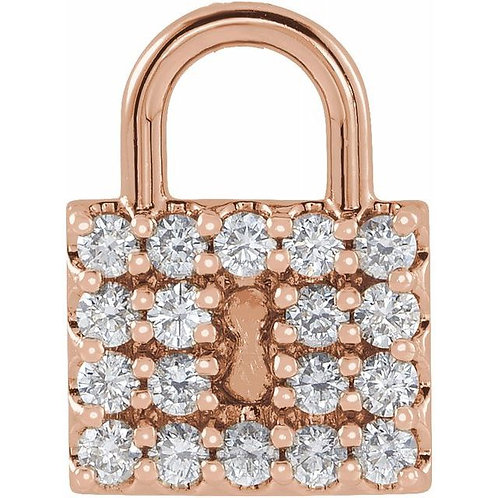 1/2ctw Diamond Lock Charm