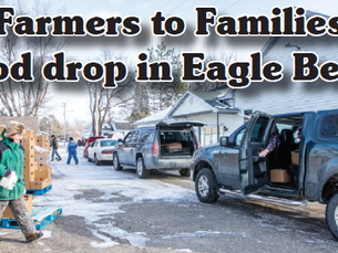 Farmers to Families food drop in Eagle Bend