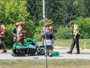 Four vehicles involved in a crash on Highway 71
