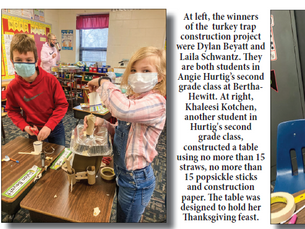 Students at B-H construct dinner tables and turkey traps