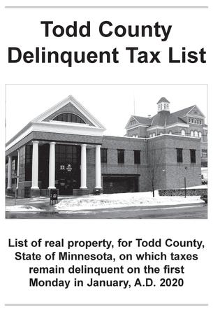 Todd County Delinquent Tax List
