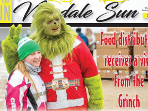 Food distribution receives a visit from the Grinch