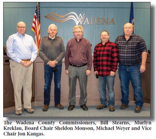 Wadena County Commissioners: Two new commissioners join the board
